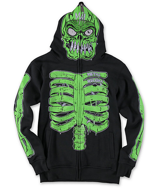Metal Mulisha Boys EG Monster Face Mask Hoodie