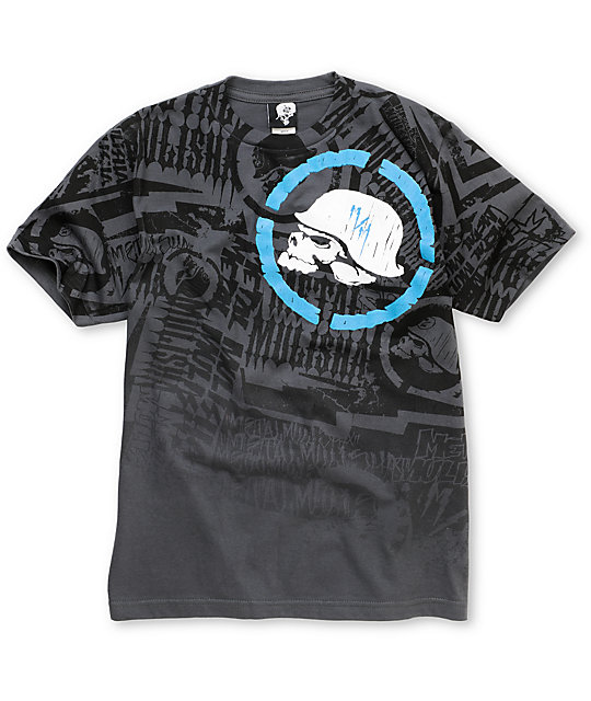 Metal Mulisha Boys Jolt Charcoal & Blue T-Shirt