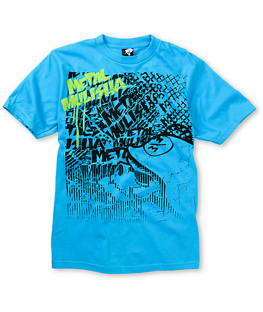 Metal Mulisha Boys Press Turquoise T-Shirt