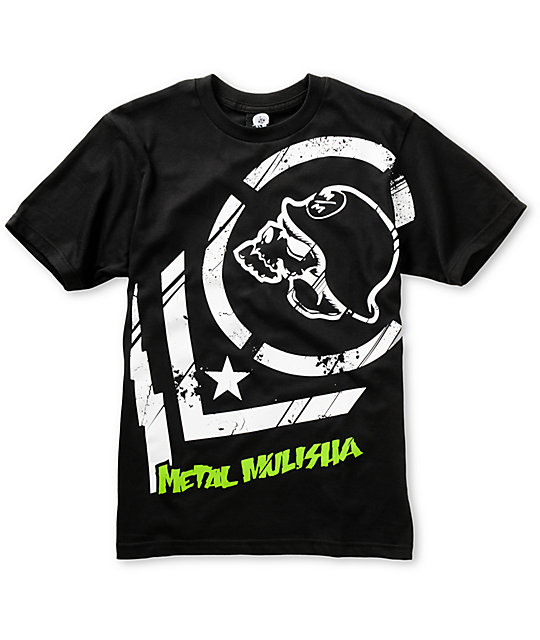 Metal Mulisha Boys Punctured Black T-Shirt