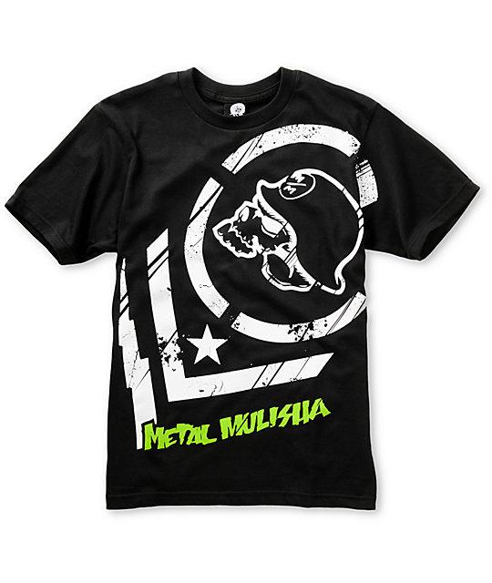 Metal Mulisha Boys Punctured Black T-Shirt