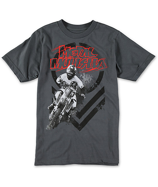 Metal Mulisha Boys Ride Charcoal T-Shirt