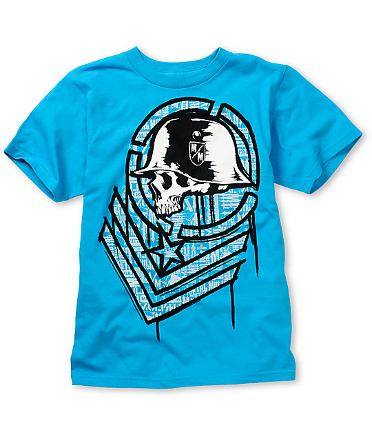 Metal Mulisha Boys Task Turquoise T-Shirt