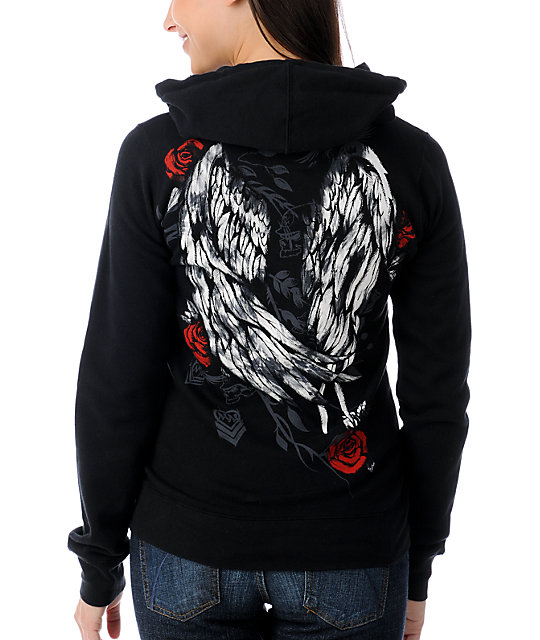 Metal Mulisha Cade Wings Black Hoodie