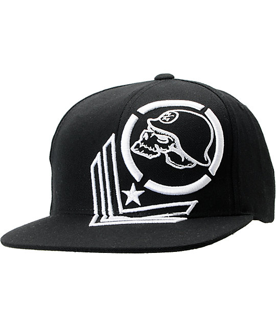 Metal Mulisha Commander Black Snapback Hat