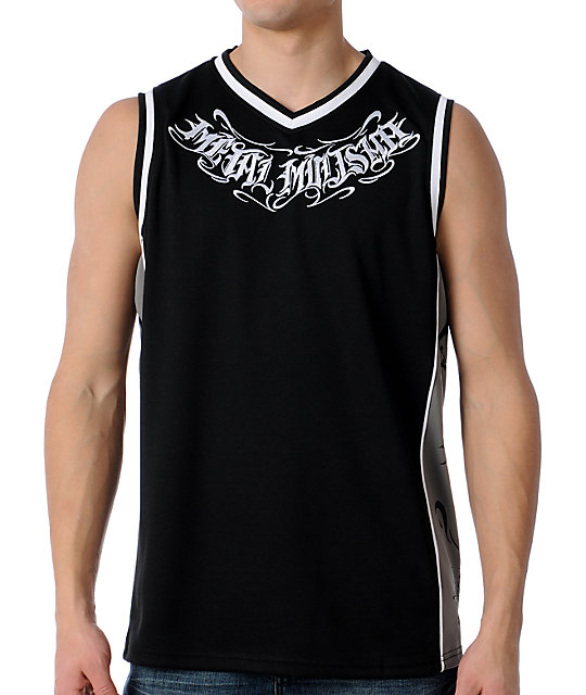Metal Mulisha Corridor Black Mesh Jersey Tank Top