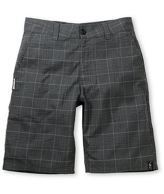 Metal Mulisha Double Up Black Plaid Shorts