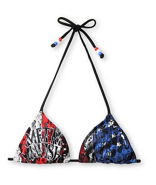 Metal Mulisha Eagle Dare Trianlge Bikini Top