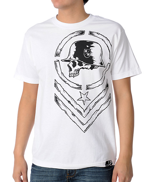 Metal Mulisha Edge White T-Shirt