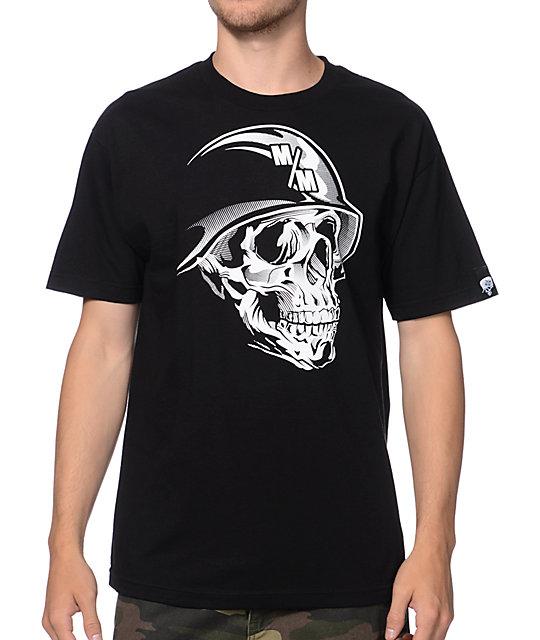 Metal Mulisha Faced Black & White T-Shirt