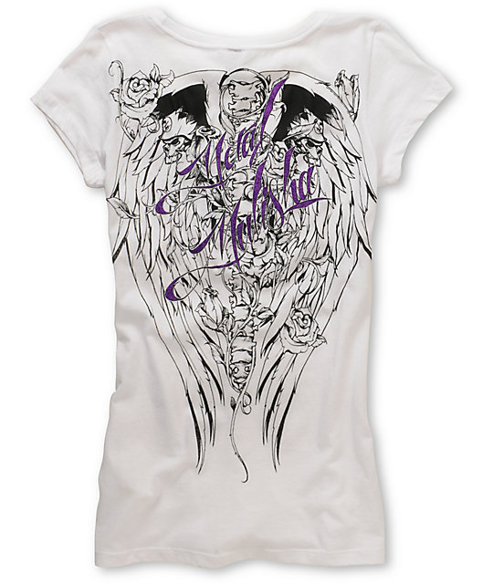 Metal Mulisha Fierce White Scoop-Neck T-Shirt