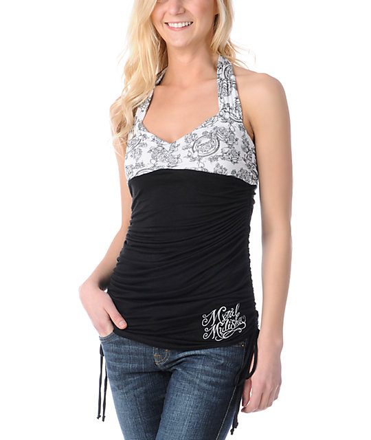 Metal Mulisha Gwyn Black Halter Top