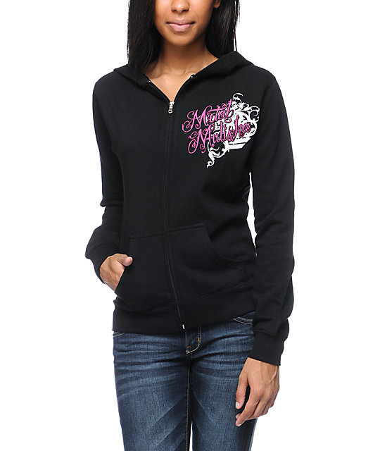Metal Mulisha Heaven Sent Black Zip Up Hoodie