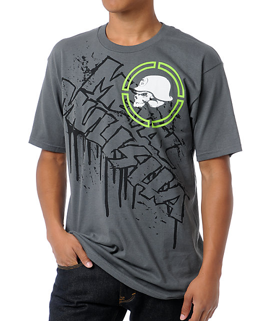 Metal Mulisha High Rise Charcoal T-Shirt