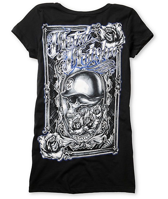 Metal Mulisha Mirror Mirror Black Scoop Neck T-Shirt