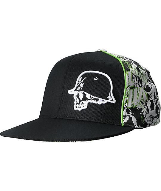 Metal Mulisha Pile Black & Green Hat