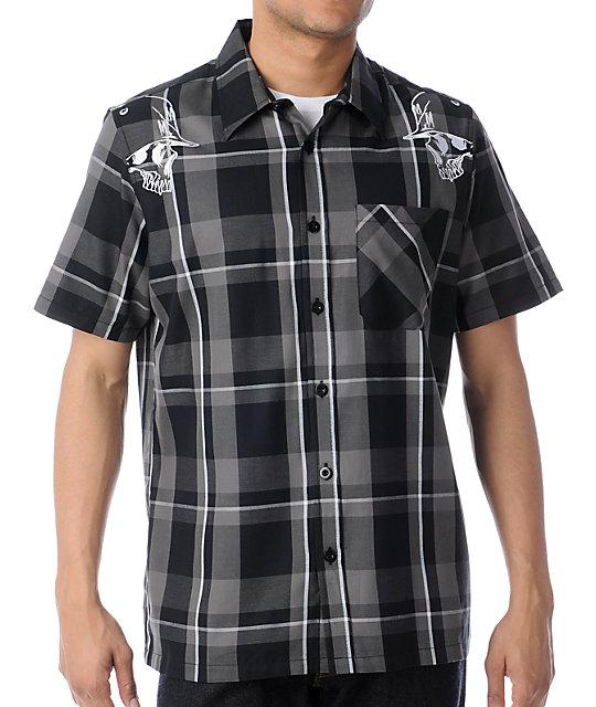 Metal Mulisha Pristine Plaid Short Sleeve Button Up Shirt