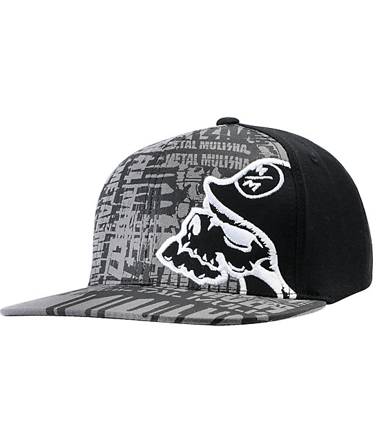 Metal Mulisha Rank Black & White Flexfit Fitted Hat