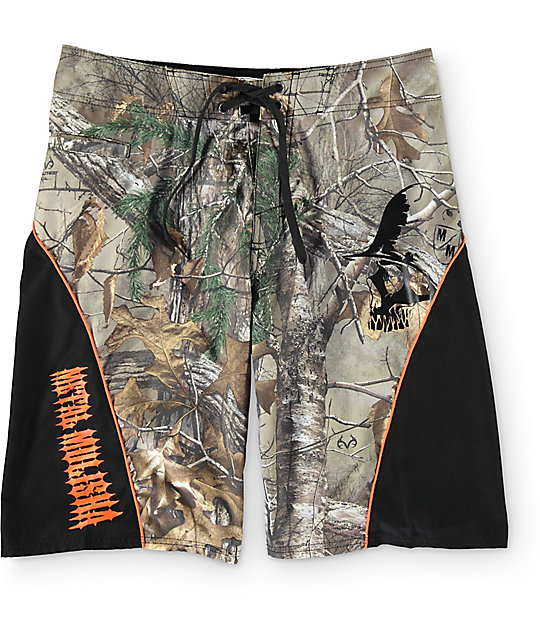"Metal Mulisha Realtree Tracker 2.0 Camo 23""  Board Shorts"