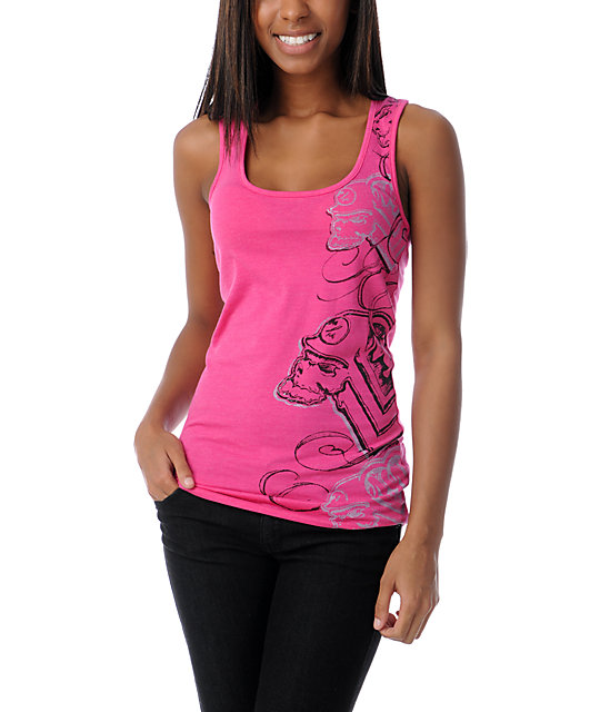 Metal Mulisha Seize This Pink Tank Top