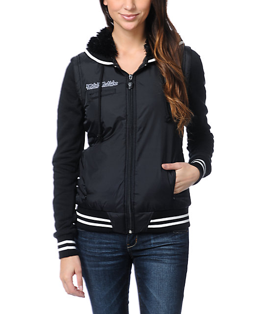 Metal Mulisha Sportsman Black Vest Varsity Jacket