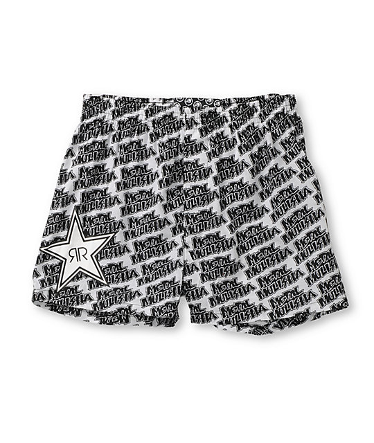 Metal Mulisha Staggering Rockstar White Boxer