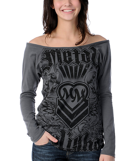 Metal Mulisha Steam Roller Charcoal Top
