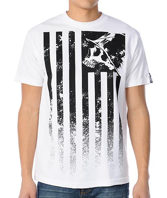 Metal Mulisha Stripes White T-Shirt