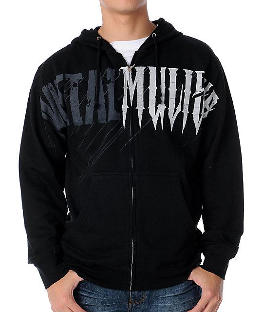 Metal Mulisha Sudden Black Zip Up Hoodie