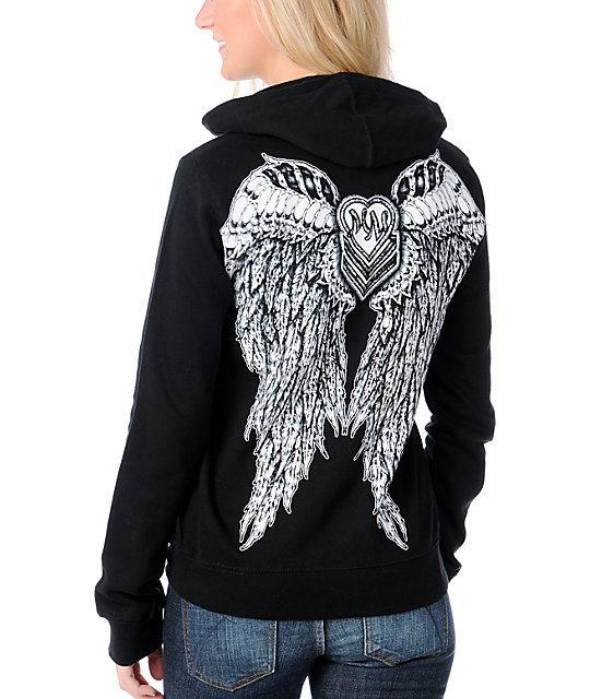 Metal Mulisha Supreme Being Black Zip Up Hoodie