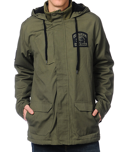 Metal Mulisha Sustain Green Hooded Jacket