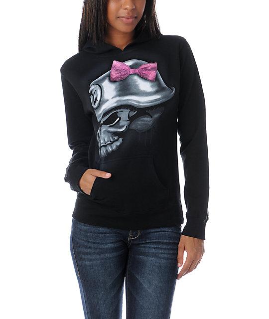 Metal Mulisha Tag Glitter Black Pullover Hoodie