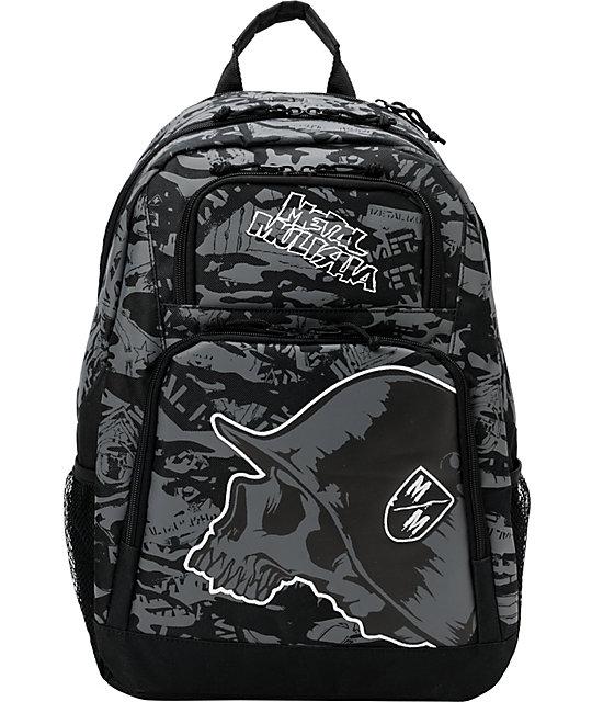 Metal Mulisha Urgency Black & White Backpack
