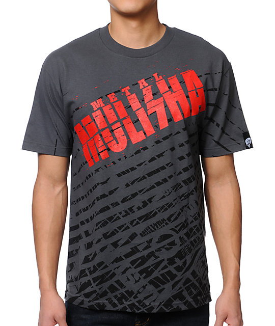 Metal Mulisha White Noise Charcoal T-Shirt