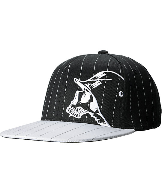 Metal Mulisha Wire Black & Grey Pinstripe Hat