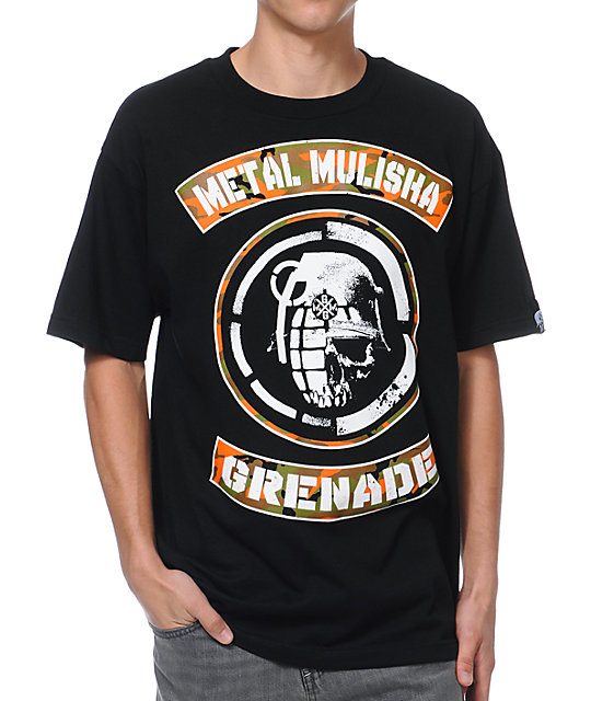 Metal Mulisha x Grenade Faceoff Black T-Shirt