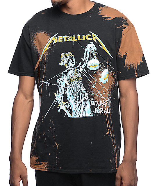 Metallica Justice Bleached Black T-Shirt at Zumiez : PDP