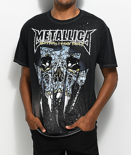 metallica skull black t shirt zumiez. Black Bedroom Furniture Sets. Home Design Ideas