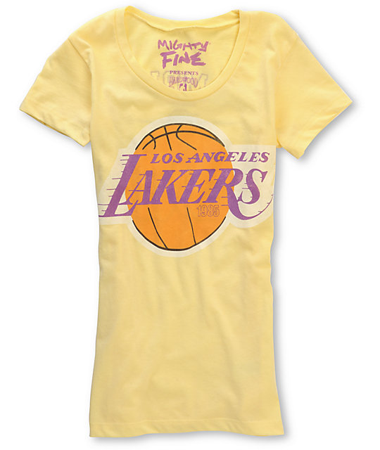 Mighty Fine Yellow Lakers 1985 NBA Champions T-Shirt