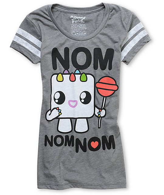 Mighty Fine x So So Happy Nom Nom Sugar Heather Grey T-Shirt