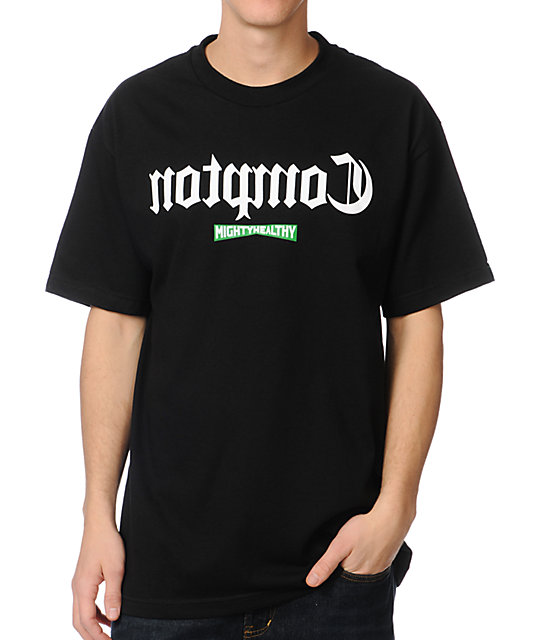Mighty Healthy Compton Black T-Shirt