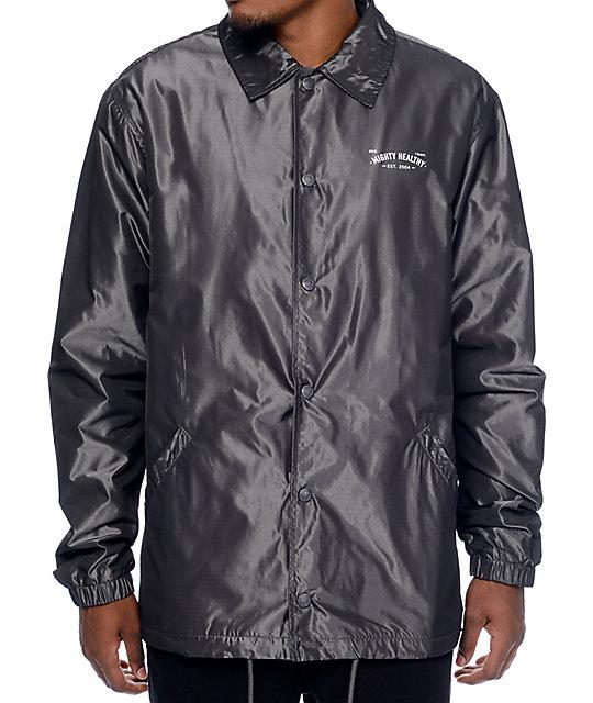 Mighty Healthy Iridescent Grey Coaches Jacket