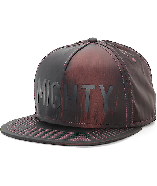 Mighty Healthy Iridescent Wine Snapback Hat