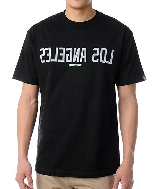 Mighty Healthy Los Angeles Black T-Shirt
