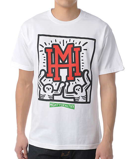 Mighty Healthy Shine White T-Shirt