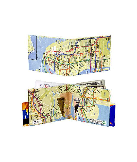 Mighty Wallet NYC Subway Bifold Wallet