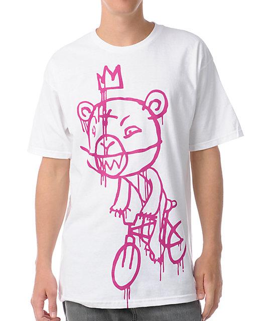 Mishka Bike Mop White T-Shirt