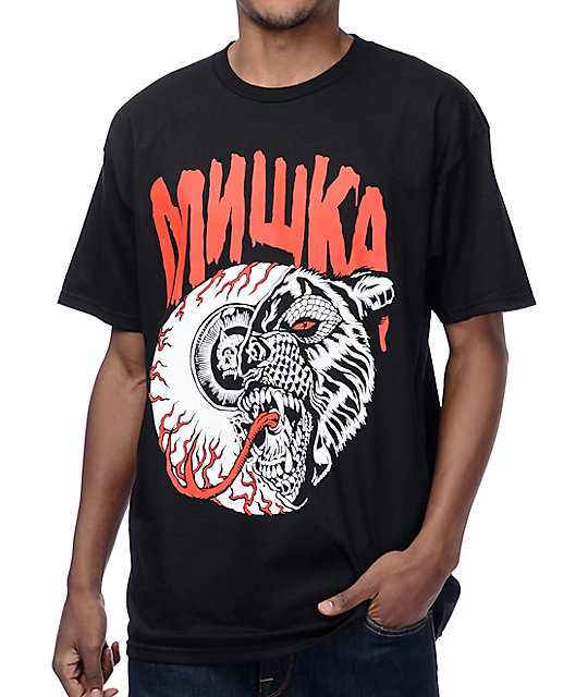 Mishka Lamour Split Icons Black T-Shirt