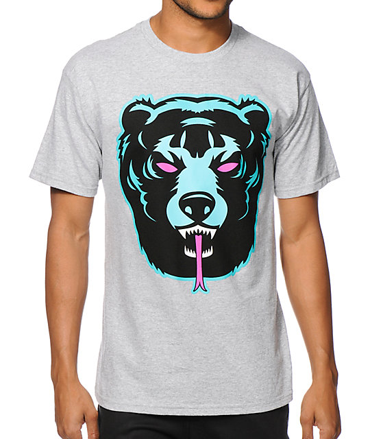 Mishka Oversized Death Adder Grey T-Shirt
