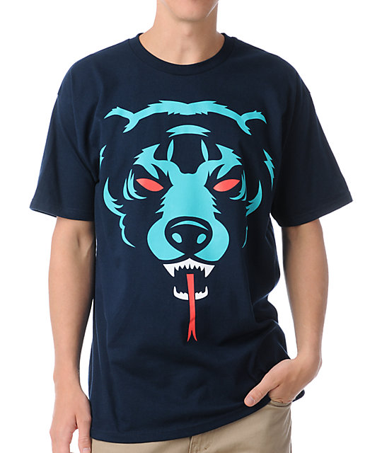 Mishka Oversized Death Adders Navy T-Shirt